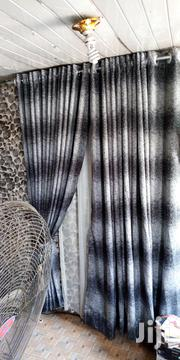 Black Doted Grey Curtain | Home Accessories for sale in Lagos State, Alimosho