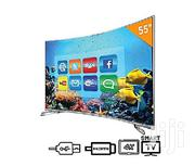 Hisense 55-inch UHD Smart Curved LED TV 5600CW + 12 Months Warranty | TV & DVD Equipment for sale in Lagos State, Lagos Island