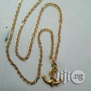 New Twisted Design Wit Anchor Pendant ITALY 750 Gold | Jewelry for sale in Lagos State, Lagos Island