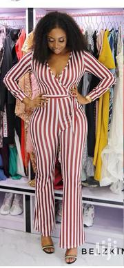 Jumsuit Red And White Stripes | Clothing for sale in Lagos State, Ikeja
