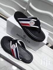 MONCLER Quality And Clean Pam (Black And White) | Shoes for sale in Lagos State, Lagos Island