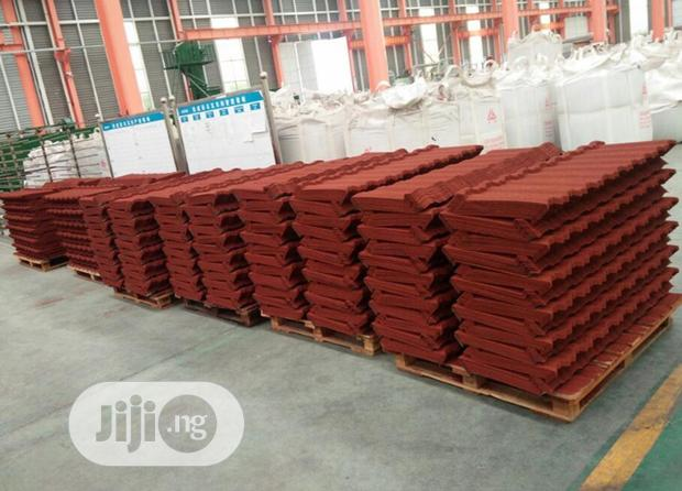 Brick Red Stone Coated Roofing Sheets Bond Classic