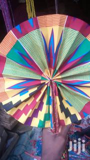 Ankara/Leather Handfans | Clothing Accessories for sale in Lagos State, Lekki Phase 2