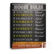 House Rules Canvas Wall Frame | Arts & Crafts for sale in Lagos State, Ojodu