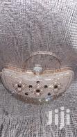 Heart Shaped Diamante and Beaded Champagne Gold Clutch Purse | Bags for sale in Lekki Phase 1, Lagos State, Nigeria