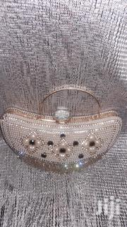 Heart Shaped Diamante and Beaded Champagne Gold Clutch Purse | Bags for sale in Lagos State, Lekki Phase 1