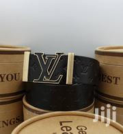 Louis Vuitton (LV) Black Leather Belt for Men's | Clothing Accessories for sale in Lagos State, Lagos Island