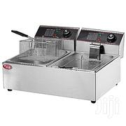 Industrial 6L+6L Dual Tank Deep Fryer Stainless Steel | Restaurant & Catering Equipment for sale in Anambra State, Awka South