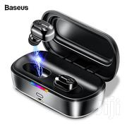 Authentic Baseus Encok W02 Bluetooth V4.2 Stereo Music Earbuds Headset | Headphones for sale in Lagos State, Ikeja