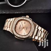 Fashion Casual Men's Fully Quartz Luxury Gold Diamond   Watches for sale in Ondo State, Akure North
