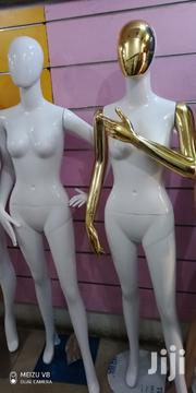 Glossy White Female Mannequin With Gold Arms | Store Equipment for sale in Lagos State, Lagos Island