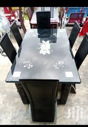 Portable Glass Dining Table by 6 | Furniture for sale in Lagos State, Ojo