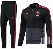 Manchester United Tracksuit - Black, Grey & Red | Clothing for sale in Lagos State, Ilupeju