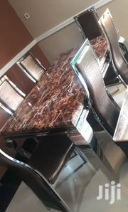 Quality Marble Dining Table With Six Chairs | Furniture for sale in Lagos State, Ikorodu