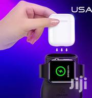 Apple Wireless 2 In 1 Charger For Airpods And Iwatch | Headphones for sale in Lagos State, Ikeja
