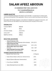 Clerical Administrative CV | Clerical & Administrative CVs for sale in Oyo State, Egbeda