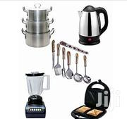 5 Piece Kitchen Combo Set- Pot,Cooking Spoon,Blender,Kettle,Toaster | Kitchen Appliances for sale in Lagos State, Mushin