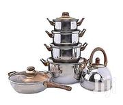 Set of 6 Cooking Pot, Fry Pan and Whistling Kettle. | Kitchen & Dining for sale in Lagos State, Mushin