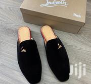 Christian Louboutin Suede Men'S Half Shoe Black | Shoes for sale in Lagos State, Ikeja
