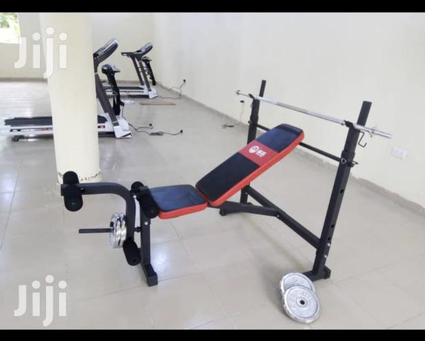 Weight Lifting Bench With 30kg Barbell