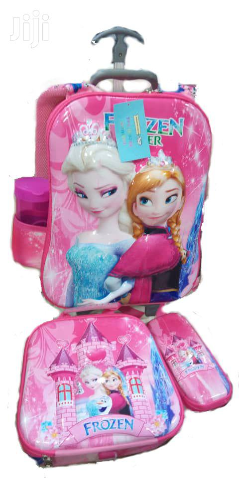 Frozen 4 In 1 Trolley School Bag