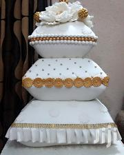 Wedding Cake, Off White & Gold Color | Wedding Venues & Services for sale in Lagos State, Lagos Mainland