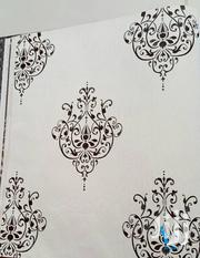 White Black Damask Wallpaper | Home Accessories for sale in Abuja (FCT) State, Jahi
