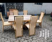 Golden Marble Dinning Set | Furniture for sale in Abuja (FCT) State, Wuse