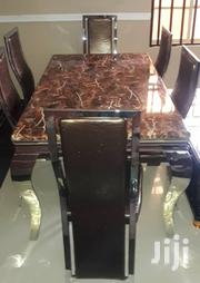 Quality Marble Dining Table With Six Chairs | Furniture for sale in Lagos State, Lekki Phase 2