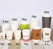 V481 Smoothie Juice Ice Cream Paper Takeaway Cup Free Logo Printing | Manufacturing Materials & Tools for sale in Lagos State, Lagos Mainland