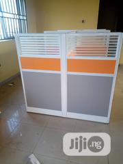 Grey And Orange Imported 4 Man Workstation With Mobile Drawers | Furniture for sale in Lagos State, Lekki Phase 1