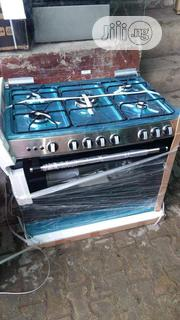 Brand New Akai Standing Gas Cooker 5 Borner All Gas Silver Colour | Kitchen Appliances for sale in Lagos State, Ojo