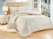 Quality Milk Colour Duvet, Bedsheet And 4 Pillow Cases | Home Accessories for sale in Lagos State, Ikeja