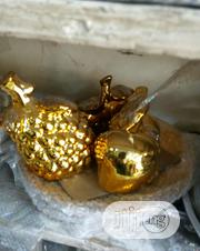 Apple Plate Deco Gold | Home Accessories for sale in Lagos State, Lekki Phase 1