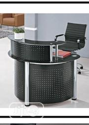 Black Receptionist Metal And Glass Table | Furniture for sale in Lagos State, Ojo