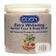 Eden Extra Whitening Apricot Face & Body Scrub For Glowing Skin | Skin Care for sale in Lagos State, Amuwo-Odofin