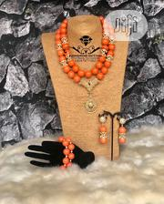 Coral Beaded Jewelry (Necklace, Bracelet And Earrings) | Jewelry for sale in Delta State, Ugheli