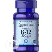 Puritans Pride Vitamin B-12 500mg-100tablets | Vitamins & Supplements for sale in Lagos State, Surulere