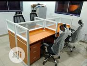 Exotic Glass Partition Office Workstation Table | Furniture for sale in Lagos State, Victoria Island