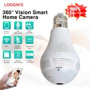 Hidden Light Bulb 360 Degree Wifi IP Camera HD 1080P Security Spy Cam | Security & Surveillance for sale in Lagos State, Ikeja