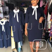 Blue Colar Neck Tie With Double Pocket for Ladies | Clothing Accessories for sale in Lagos State, Lagos Mainland