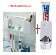 Toothpaste Dispenser And Toothbrush Rack | Home Accessories for sale in Lagos State, Ifako-Ijaiye