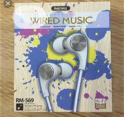 RM-569 Wired Music Earphone Remax | Headphones for sale in Lagos State, Ikeja