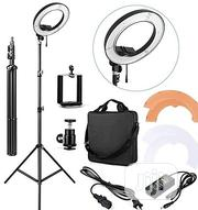 Ring Light 48cm Complete Set With Phone Holder, Adapter & Stand | Salon Equipment for sale in Lagos State, Ikeja