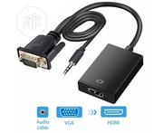 VGA to HDMI Adapter Cable With Audio | Accessories & Supplies for Electronics for sale in Lagos State, Ikeja