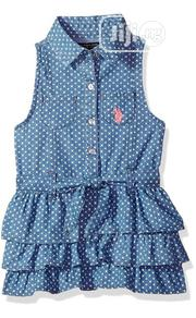 U.S Polo Assn Collared Blue Dress Size6   Children's Clothing for sale in Abuja (FCT) State, Utako