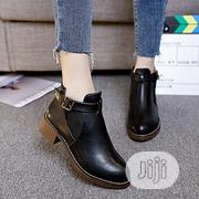 Fashion Autumn And Winter Thick Heels Buckle Martin Boots | Shoes for sale in Abuja (FCT) State, Asokoro