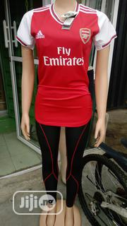 Female Arsenal Jersey With Leggings Tight   Clothing for sale in Lagos State, Ikeja
