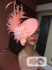 Peach Fascinator.. Spiky Feathers And Adorable Roses   Wedding Wear for sale in Lagos State, Oshodi-Isolo