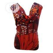 Plus Size Cowl Neck Sleeveless Chiffon Blouse-Uk 22   Clothing for sale in Rivers State, Port-Harcourt